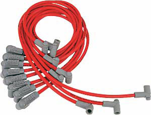 msd red super conductor spark plug wires 1985 95. Black Bedroom Furniture Sets. Home Design Ideas